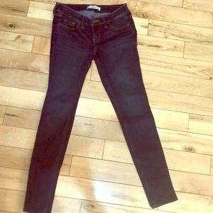Dark denim Hollister skinny jeans.